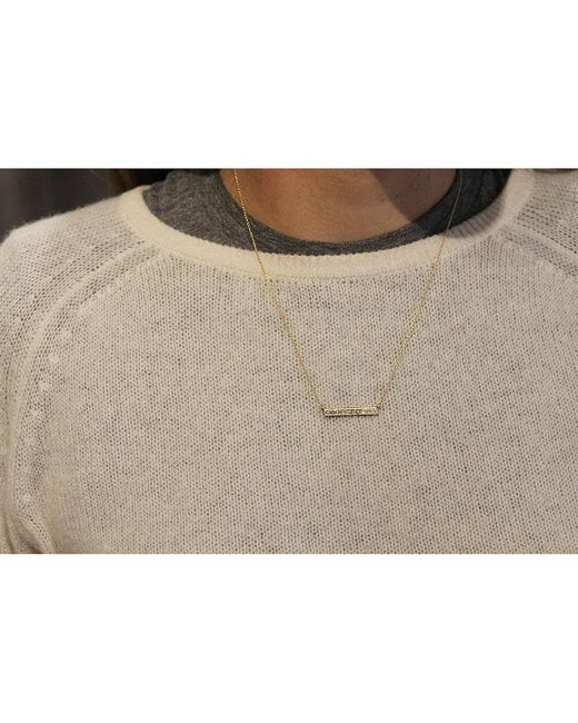Adornia | Pink Diamond And Rose Gold Vermeil Barra Bar Necklace | Lyst