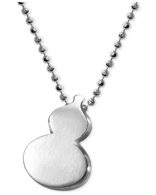 Alex Woo | Metallic Little Faith Wulu Gourd Pendant In Sterling Silver | Lyst