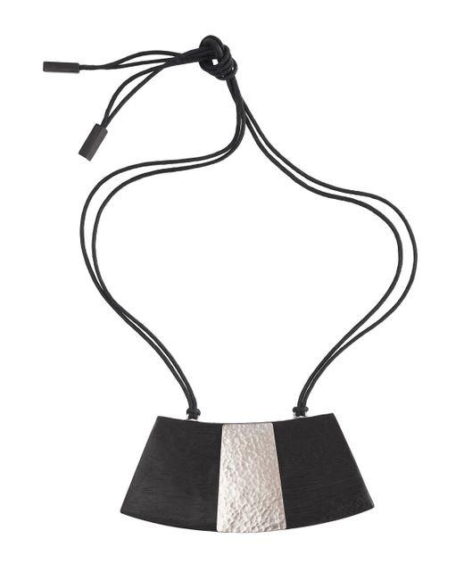 Natori | Black Wood Necklace | Lyst