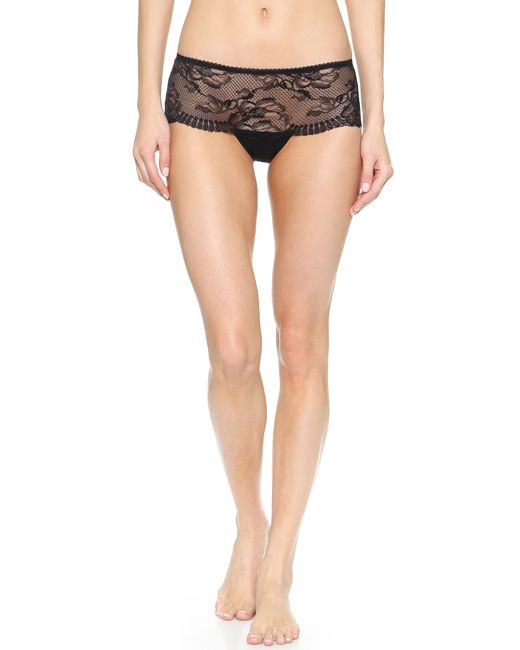 La Perla | Black Begonia Boy Shorts | Lyst