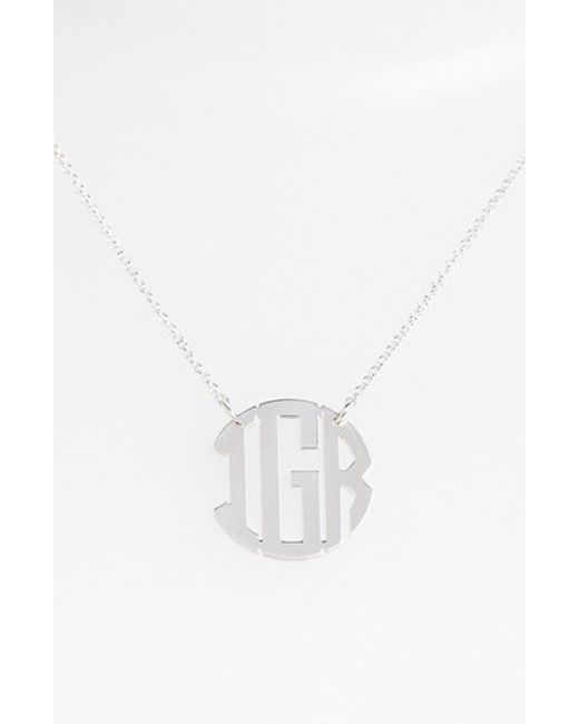 Argento Vivo | Metallic Personalized 3-initial Block Monogram Necklace (nordstrom Online Exclusive) | Lyst