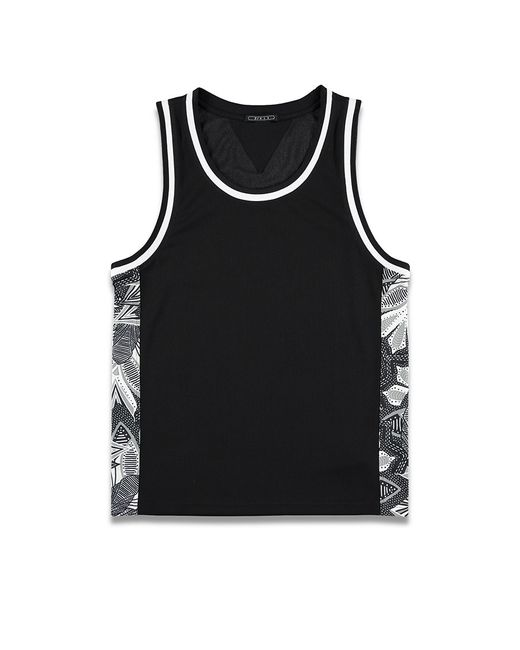 Forever 21 | Black Abstract Print-paneled Mesh Tank for Men | Lyst