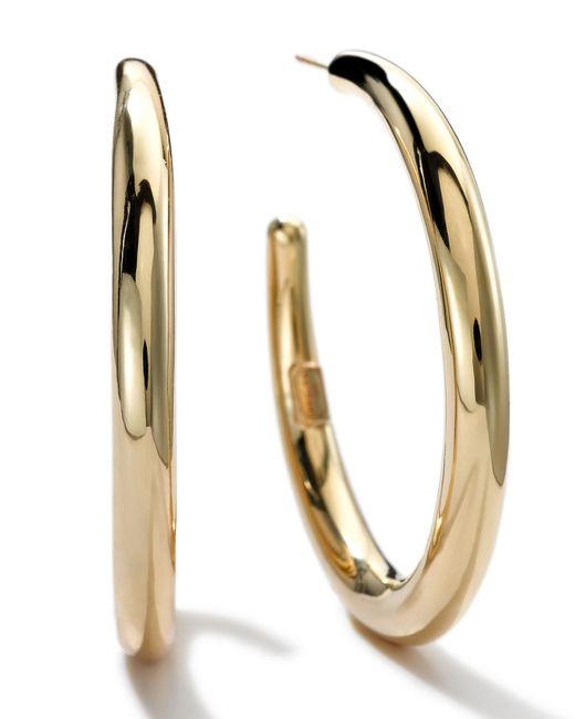 Ippolita   Metallic 18k Gold #3 Smooth Hoop Earrings   Lyst