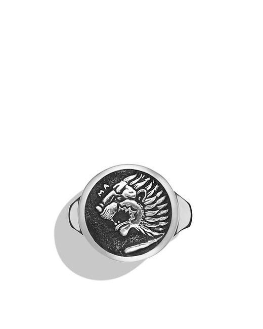David Yurman | Metallic Petrvs Lion Signet Ring for Men | Lyst