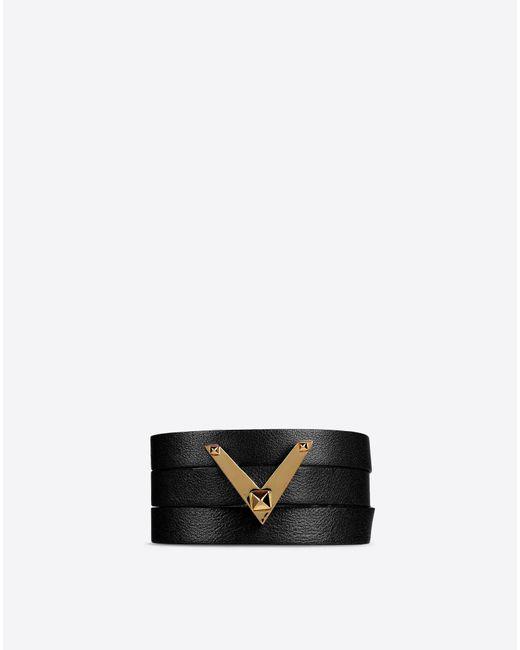 Valentino | Black Logo Bracelet | Lyst