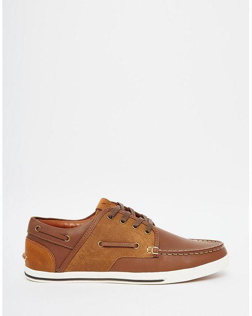 aldo ldo greeney boat shoe in brown for lyst