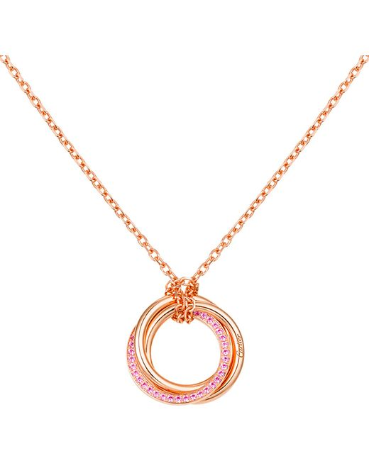 Cartier | Blue Trinity De 18ct Pink-gold And Sapphire Pendant | Lyst