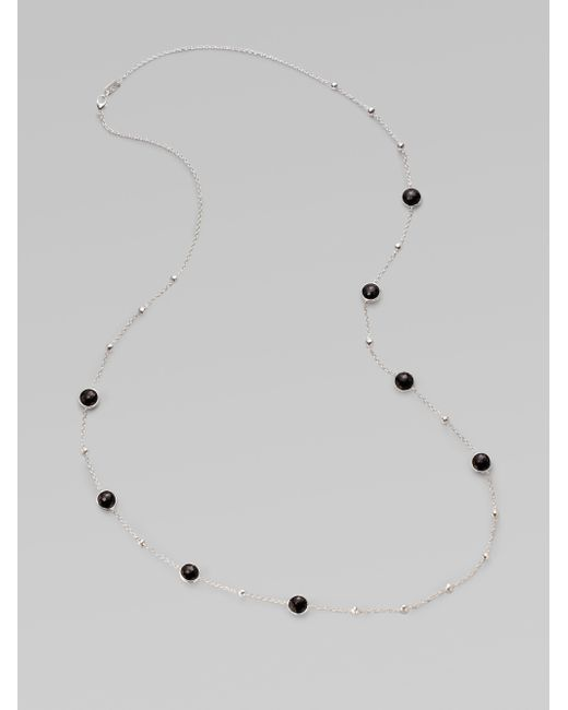 Ippolita | Black Onyx & Sterling Silver Mini Lollipop Illusion Chain Necklace | Lyst
