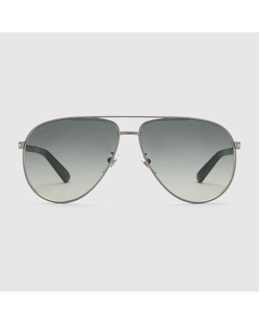 5a9f4198403 Gucci Metal Aviator Sunglasses Dark Ruthenium « Heritage Malta