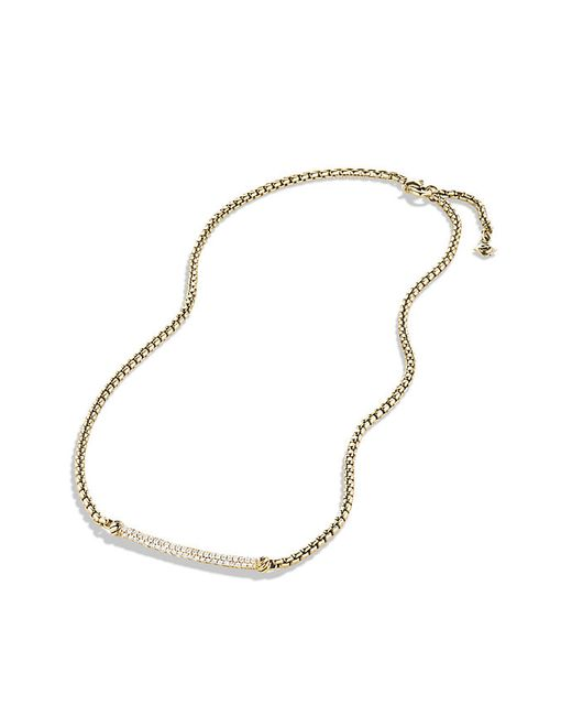 David Yurman | Metallic Petite Pavé Metro Chain Necklace With Diamonds In Gold | Lyst