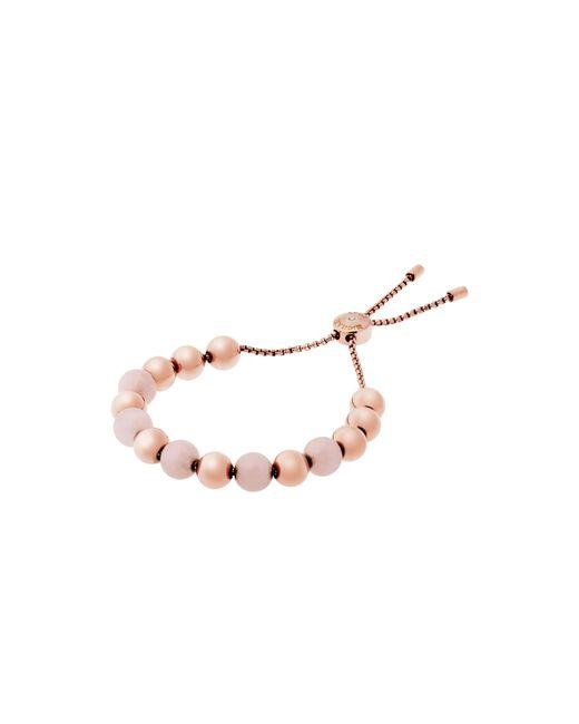 Michael Kors | Brown Rose Gold-tone Quartz Slider Bracelet | Lyst