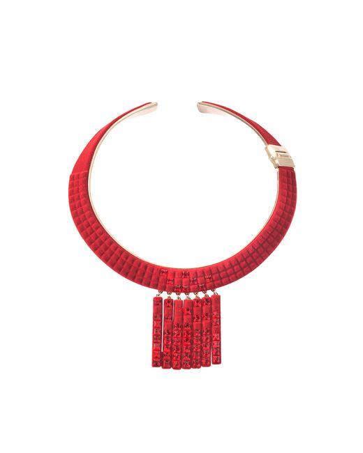 Atelier Swarovski | Red Velvet Rock Chandelier Necklace By Viktor & Rolf | Lyst