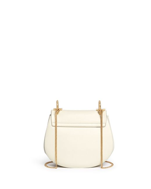 where to buy chloe bags - Chlo�� Drew Small Perforated Leather Shoulder Bag in White | Lyst