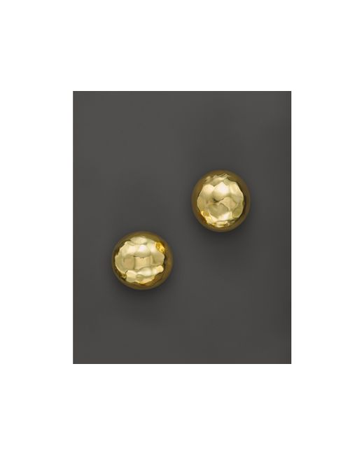 Ippolita | Metallic Glamazon 18k Yellow Gold Small Hammered Ball Studs | Lyst
