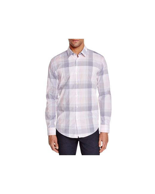 Boss Boss Ronni Check Slim Fit Button Down Shirt In Pink