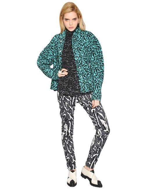 Proenza Schouler | Green Silk Organza-trimmed Bouclé Jacket | Lyst
