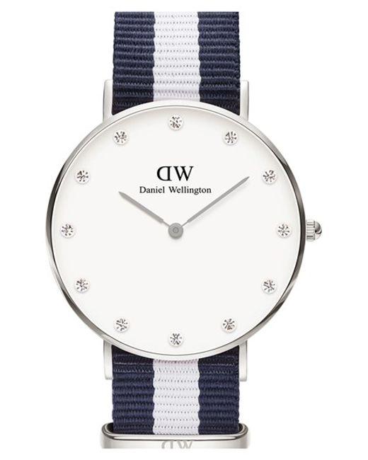 Daniel Wellington | Blue 'classy Glasgow' Crystal Index Nato Strap Watch | Lyst
