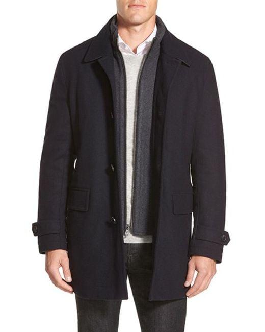 Michael Kors | Blue Car Coat for Men | Lyst