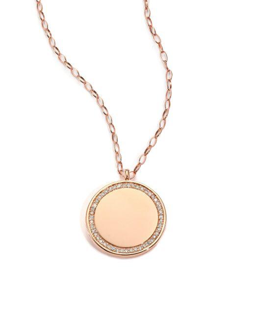 Astley Clarke | Metallic Cosmos Diamond & 14k Rose Gold Medium Locket Necklace | Lyst