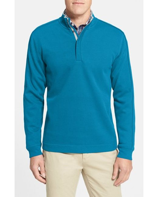 Cutter & Buck | Blue 'fulltime' Supima Cotton Pullover for Men | Lyst