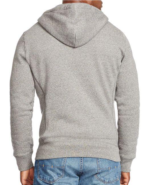 Polo Ralph Lauren   Gray Full-zip Fleece Hoodie for Men   Lyst