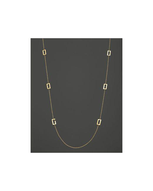 "Ippolita | Metallic 18k Yellow Gold Window Pane Station Necklace, 40"" | Lyst"