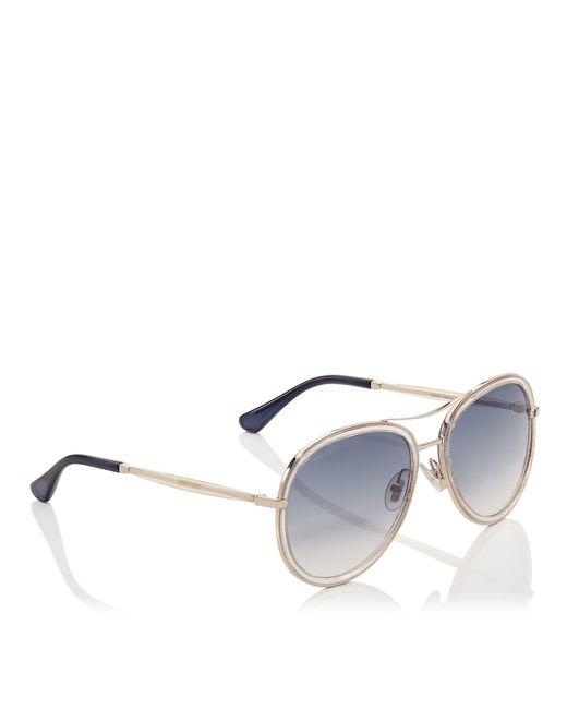 fbb7f059573 Jimmy Choo Aviator Sunglasses