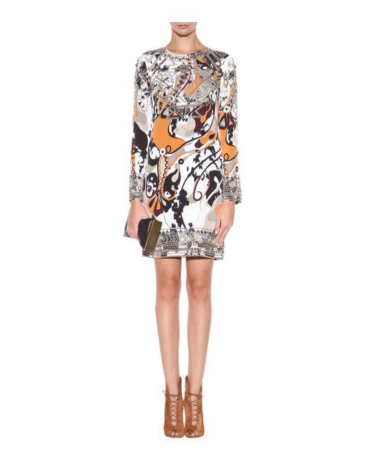 Emilio Pucci | Multicolor Embellished Silk Dress | Lyst