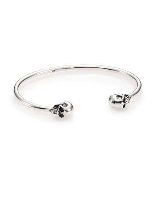 King Baby Studio | Metallic Sterling Silver Skull Cuff Bracelet for Men | Lyst