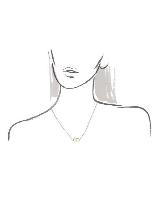 Melissa Joy Manning   Metallic Classic 3 Circle Necklace   Lyst