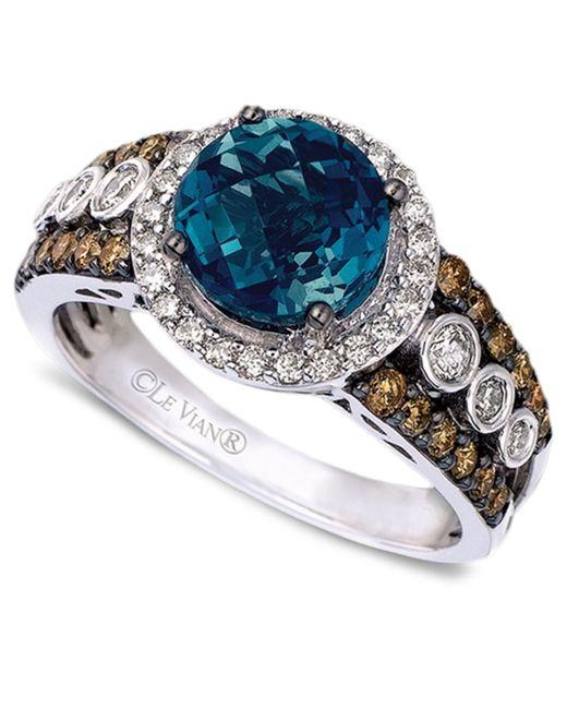 Le Vian | White Blue Topaz Ring With Diamonds In 14k Vanilla Gold | Lyst
