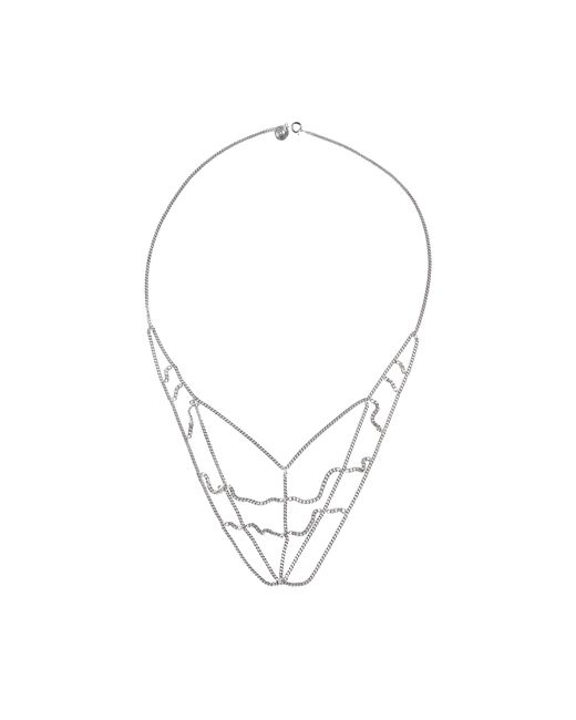 MM6 by Maison Martin Margiela   Metallic Spiderman Necklace   Lyst