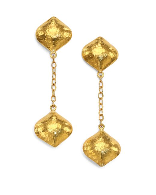Gurhan | Metallic Clove 24k Yellow Gold Cielo Long Chain Drop Earrings | Lyst