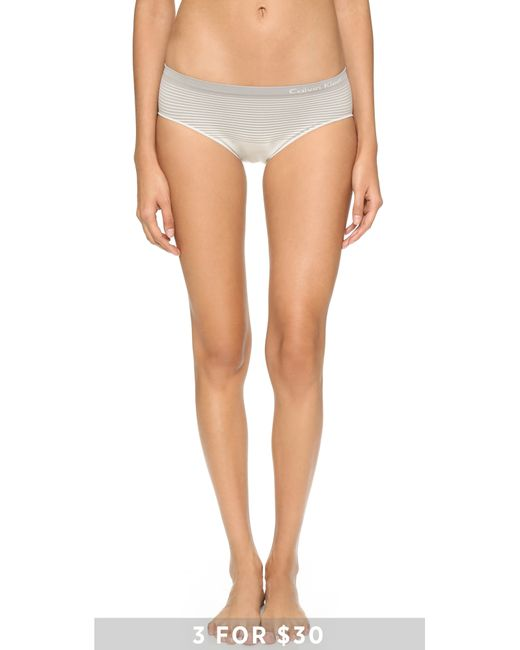 Calvin Klein | Gray Seamless Illusions Hipsters | Lyst