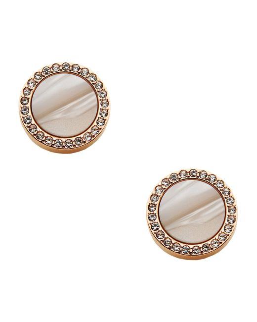 Fossil | Pink Earrings | Lyst
