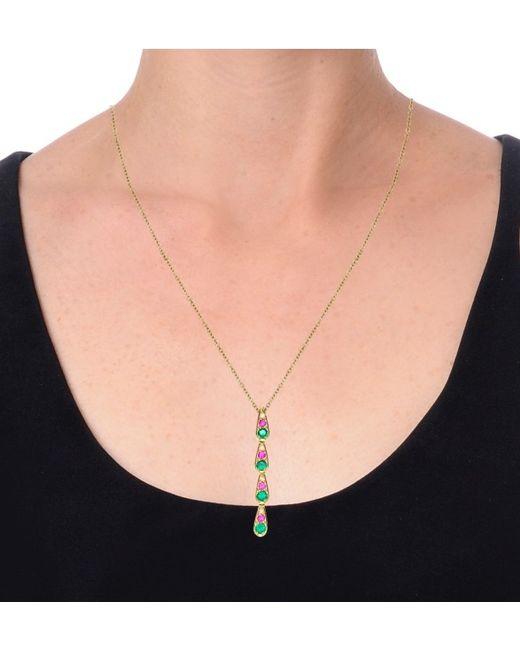 Sabine G | Harlequin Pink Sapphire Necklace | Lyst