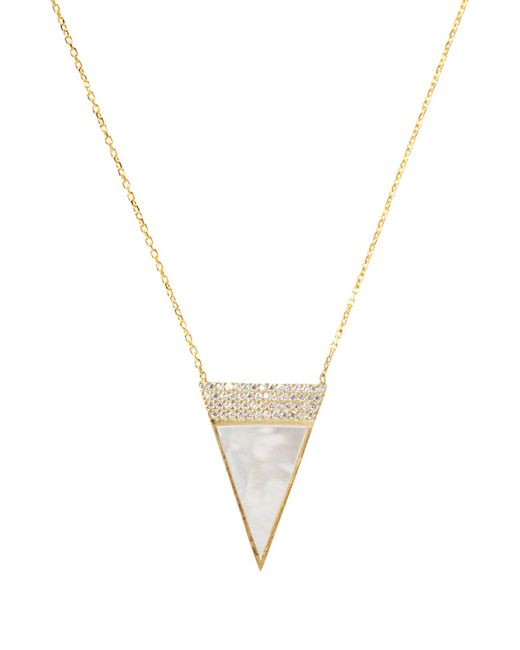 Forever 21 | Metallic Moon And Lola Faux Pearl Pendant Necklace | Lyst