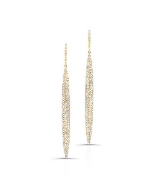Anne Sisteron | Multicolor 14kt Yellow Gold Diamond Long Stiletto Earrings | Lyst