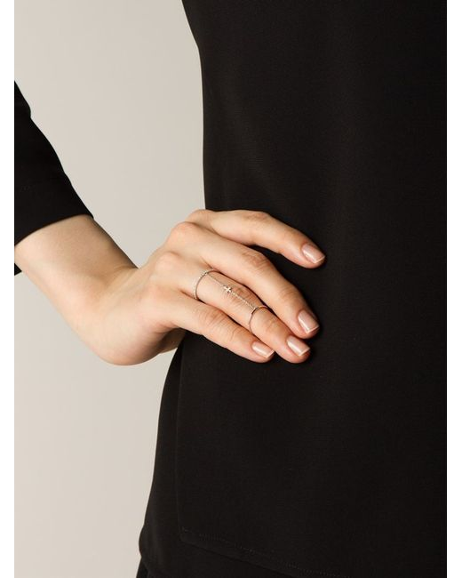 Elise Dray | Metallic Cross Link Ring | Lyst