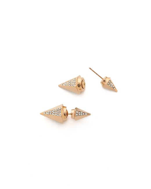 Vita Fede | Pink Titan Double Hexagon Crystal Earrings | Lyst