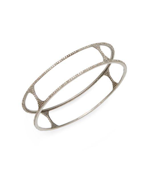 Bavna | Metallic 3.71 Tcw Pavé Champagne Diamond & Sterling Silver Cutout Bracelet | Lyst