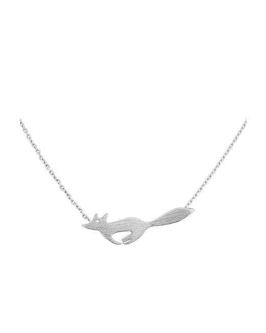 Azendi | Metallic Sterling Silver Running Fox Necklace | Lyst