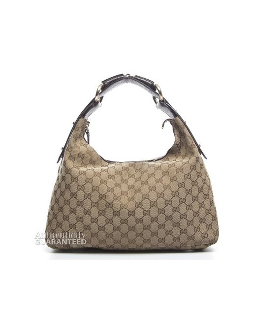 f33757fa23fd Gucci Brown Horsebit Hobo Bag | Stanford Center for Opportunity ...