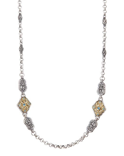 Konstantino | Blue 'selene' Long Station Necklace | Lyst