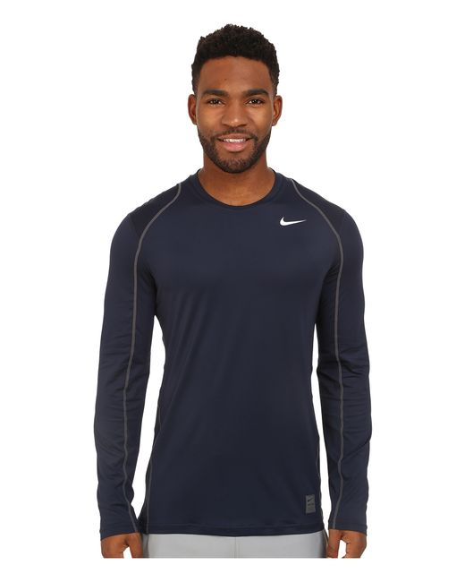 Nike | Gray Pro Cool Fitted L/s for Men | Lyst