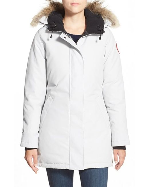 Canada Goose coats online authentic - Canada goose 'victoria' Slim Fit Down Parka With Genuine Coyote ...