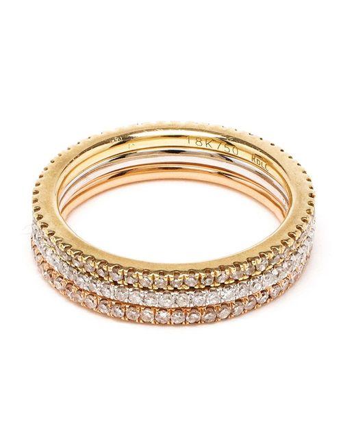 Rosa De La Cruz | Pink 18k Yellow Gold & Diamond Midi Ring | Lyst