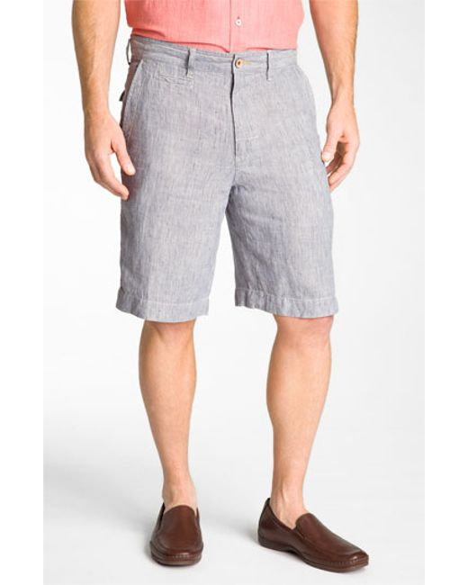 Tommy Bahama Line Of The Times Relaxed Fit Striped Linen