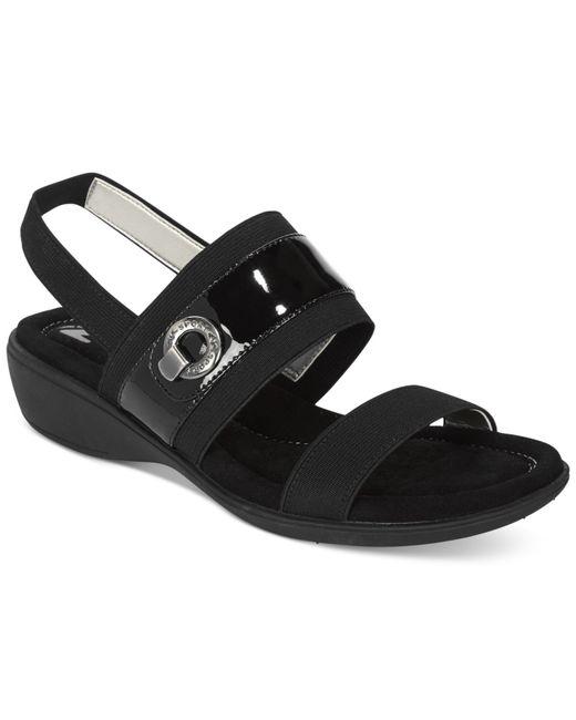 Anne Klein Hida Wedge Sandals In Black Lyst