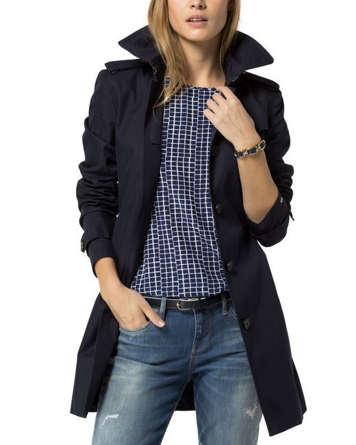 tommy hilfiger heritage single breasted trench coat in. Black Bedroom Furniture Sets. Home Design Ideas